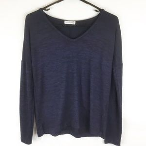 Rag & Bone Jeans Blue heather vneck sweater